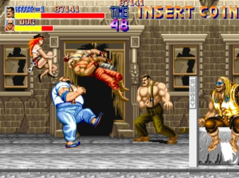 Haggar, former street fighter turned Mayor, cleaning up Metro City as a mythic Jessie Ventura.