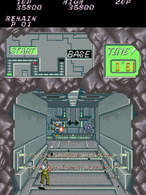 The arcade version was a bit more elaborate with a map and timer above. But for the most part, the NES did a pretty good job in keeping the basics relatively similar.